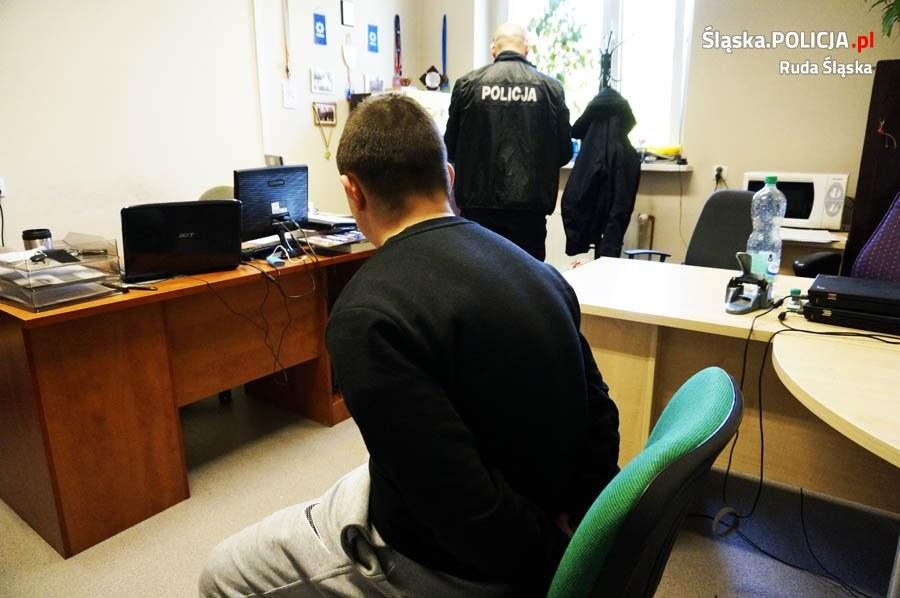 Jeden z zatrzymanych mężczyzn /slaska.policja.pl /