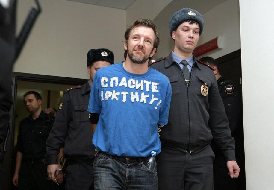 Jeden z zatrzymanych w Rosji ekologów z Greenpeace / IGOR PODGORNY / GREENPEACE / HANDOUT   /PAP/EPA