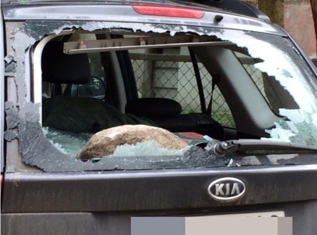 Jeden ze zniszczonych samochodów /RMF