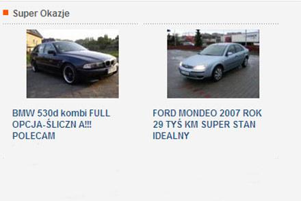 Jedna z aukcji na http://motoaukcje.interia.pl /