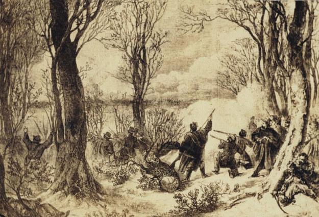 Jedna z bitew powstania styczniowego /Wikimedia