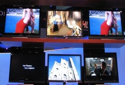 Jedna z killkunastu instalacji prezentujących najnowsze telewizory Sony /INTERIA.PL
