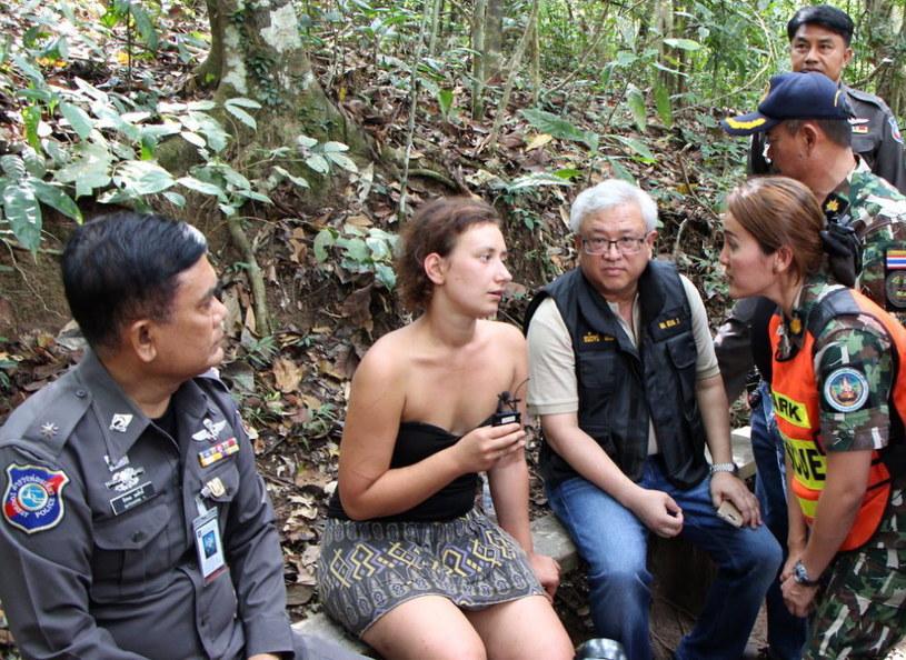 Jedna z odnalezionych turystek w Parku Narodowym Khao Yai w Tajlandii /EPA/STR /PAP/EPA