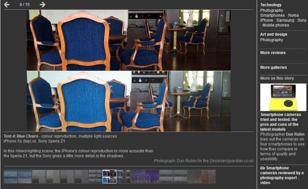 Jedna z odsłon porównania telefonicznych aparatów przygotowana przez Dana Rubina /Internet