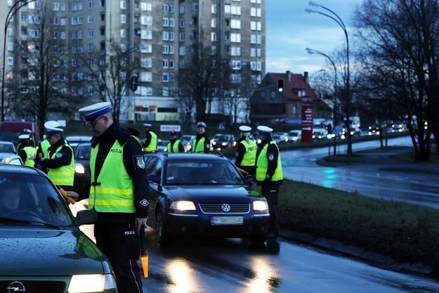 """Jedna z policyjnych akcji pt: """"Trzeźwy poranek"""" / Fot: Piotr Jedzura /Reporter"""
