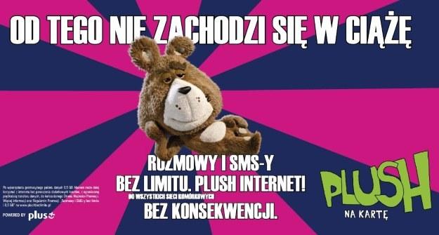 Jedna z reklam oferty Plush - podesłana w materiałach prasowych sieci Plus /materiały prasowe