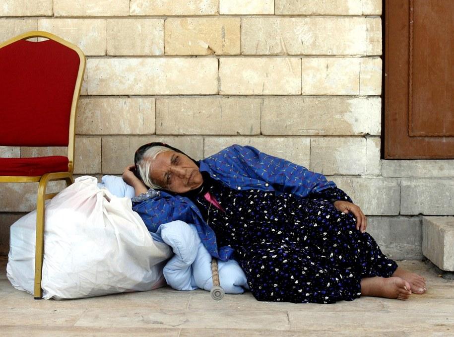 Jedna z wielu Chrześcijanek, która ukrywa się w Erbilu /MOHAMMED JALIL /PAP/EPA