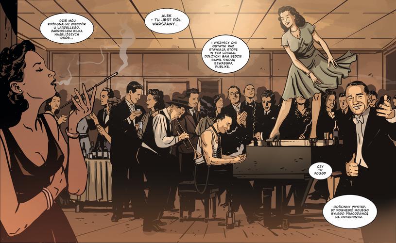 """Jedna ze scen z drugiego tomu komiksu """"Bradl"""" /materiały prasowe"""