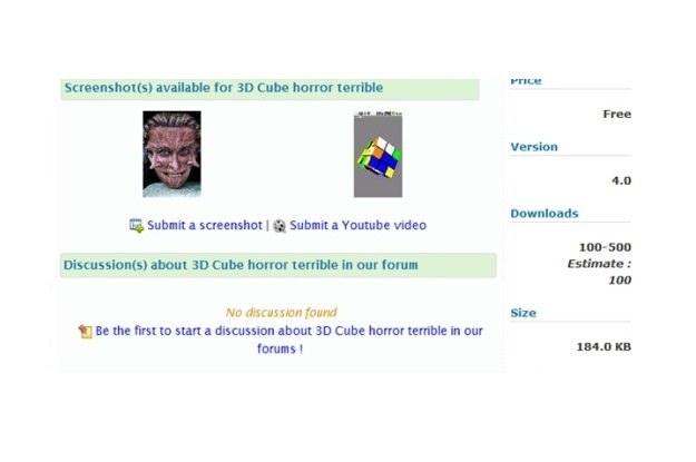 Jedna ze szkodliwych gier - 3D Cube horror terrible /materiały prasowe