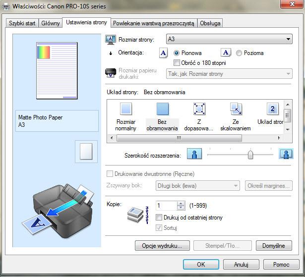 Jedno z okien sterownika drukarki /INTERIA.PL