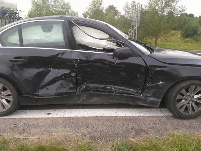 Jedno z uszkodzonych aut /Adam /Gorąca Linia RMF FM