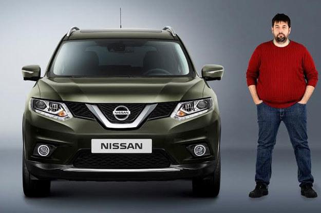 Jednym z klientów, którzy testowali nowość Nissana był niejaki Juan  D'Aprilia, Hiszpan. tak wyglądał przed testem GYM... /