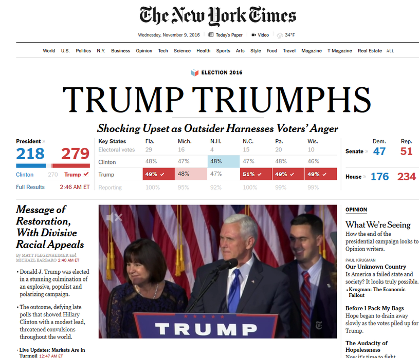 """""""Jedynka"""" internetowego wydania """"The New York Times"""" /"""