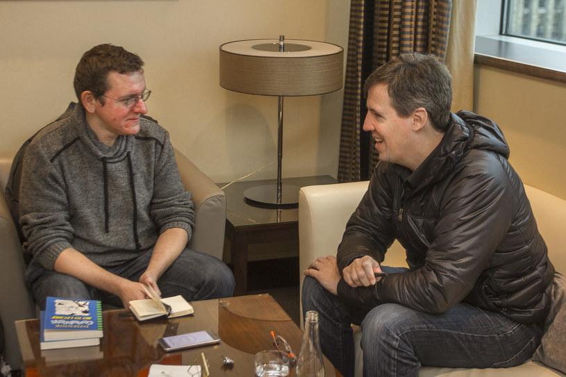 Jeff Kinney podczas wizyty w Warszawie /Wojtek Franus /materiały prasowe