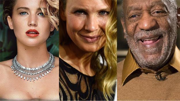 Jennifer Lawrence, Renee Zellweger i Bill Cosby to bohaterowie największych skandali 2014 roku /Getty Images