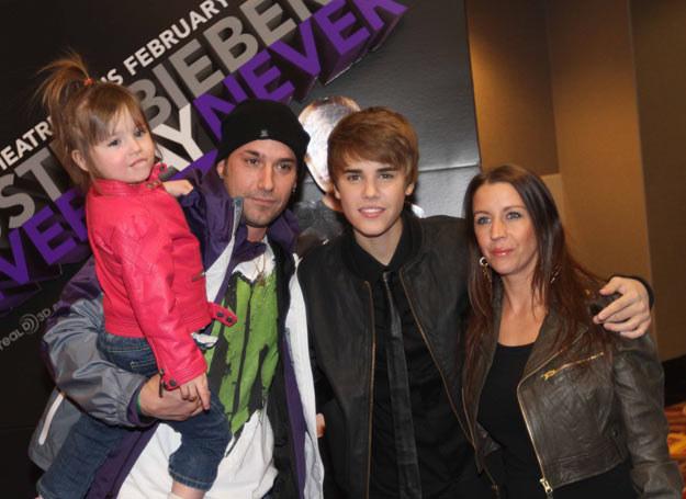 Jeremy Bieber z rodziną /John K/Todd G / Splash News /East News