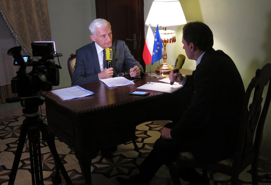 Jerzy Buzek i Krzysztof Ziemiec /Jacek Skóra /RMF FM
