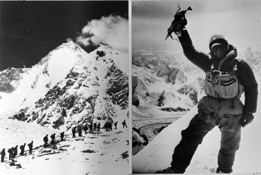 Jerzy Kukuczka na szczycie Hidden Peak z 1983 roku. /CAF /PAP