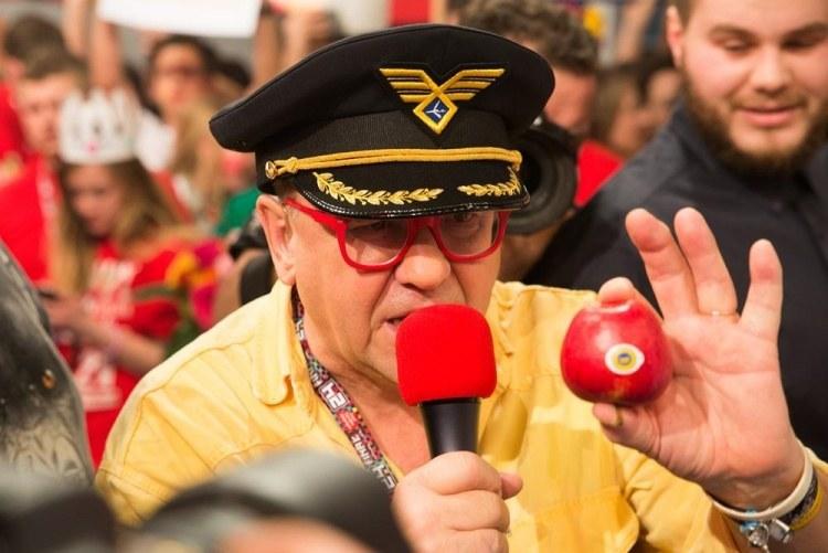 Jerzy Owsiak podczas 24. finału WOŚP /wosp.org.pl