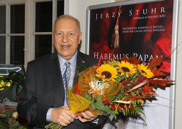 Jerzy Stuhr, odtwórca roli rzecznika prasowego,  fot. Damian Klamka /East News