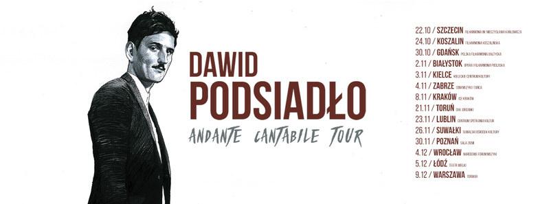 Jesienna trasa Dawida Podsiadły /materiały promocyjne