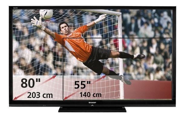 Jeśli nie na stadionie, to na dużym telewizorze HD - LCD BIG AQUOS /materiały prasowe