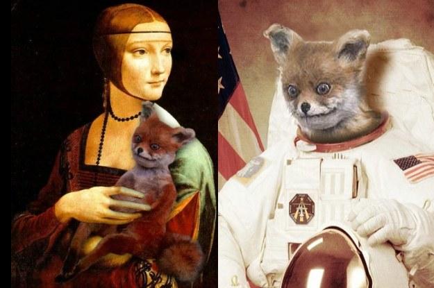 """Jest """"Dama z lisem"""" oraz amerykański (dlaczego nie rosyjski?) astronauta /Internet"""
