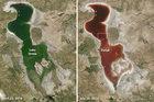 Jezioro w Iranie zmieniło kolor na czerwony!