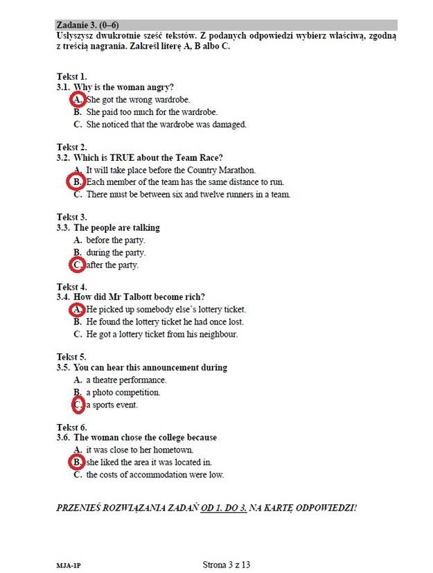 Język angielski - poziom podstawowy - str 3. /INTERIA.PL