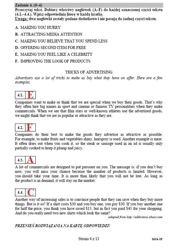 Język angielski - poziom podstawowy, str. 4 /INTERIA.PL