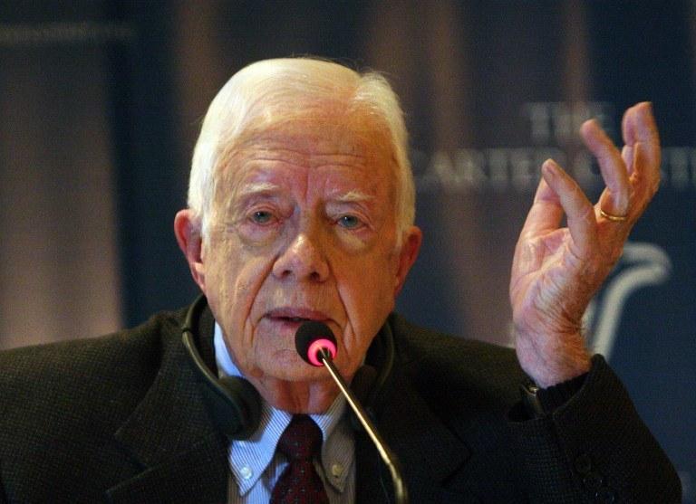 Jimmy Carter przyznał, że cierpi na raka wątropy; zdj. arch. z 2012 roku /AMRO MARAGHI / AFP /AFP