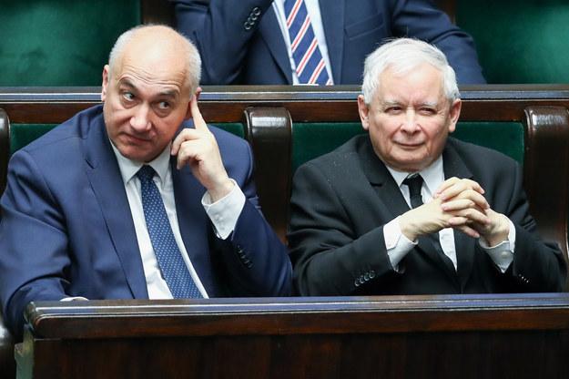 Joachim Brudziński i Jarosław Kaczyński /fot. Andrzej Iwanczuk /Reporter