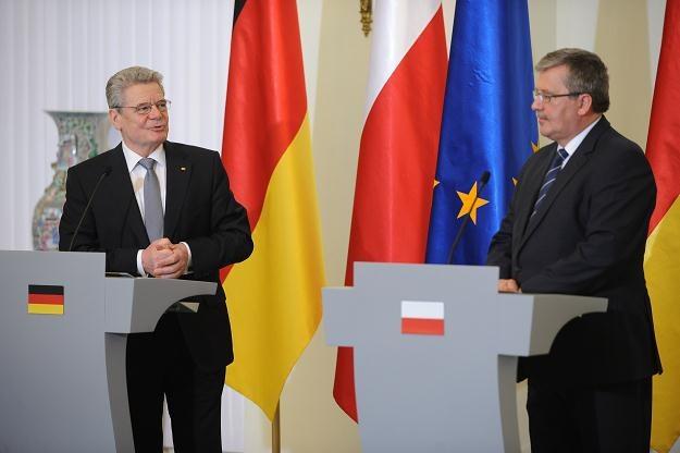 Joachim Gauck i Bronisław Komorowski / fot. J. Turczyk /PAP