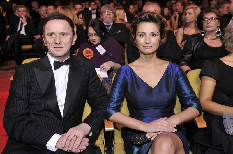 Joanna Brodzik z partnerem - Pawłem Wilczakiem /Kurnikowski /AKPA