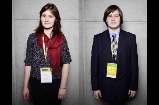 Joanna Jurek oraz Jerzy Szuniewicz  - młodzi naukowcy, którzy odniesli bardzo duży sukces na międzynarodowym konkursie Intela /materiały prasowe