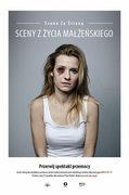 """Joanna Koroniewska, czyli niezapomniana Małgosia Mostowiak z """"M jak miłość"""", w kampanii """"Fundacji Centrum Praw Kobiet"""" - """"Przerwij spektakl przemocy""""."""