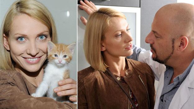 """Joanna Moro na planie """"Blondynki""""! /Agencja W. Impact"""