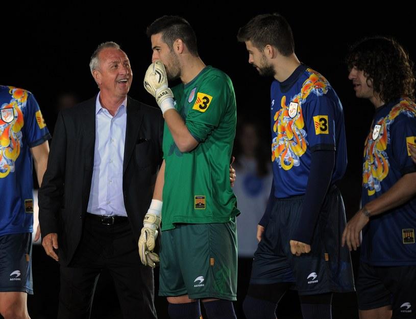 Johan Cruyff po raz ostatni poprowadził reprezentację Katalonii /AFP