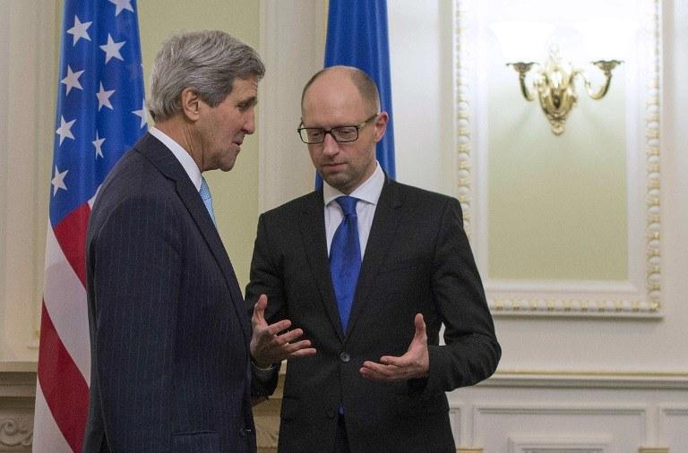 John Kerry i Arsenij Jaceniuk /AFP