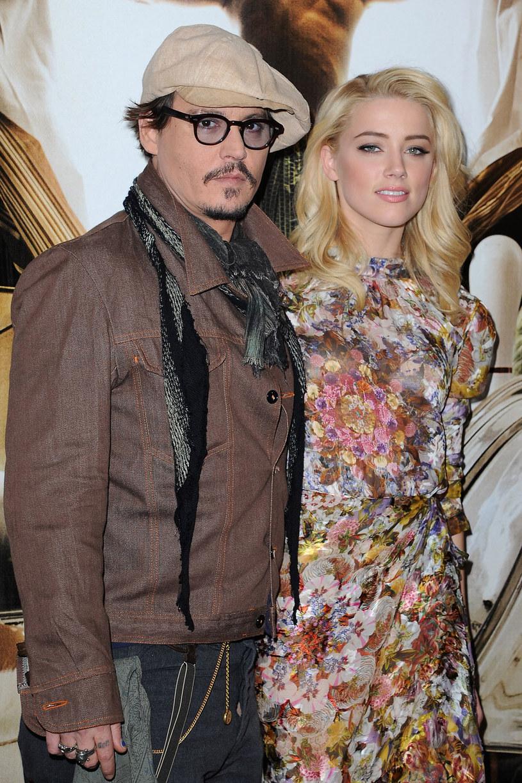 Johnny i młodsza od niego o 23 lata Amber Heard nie ukrywają już swojego związku /Getty Images/Flash Press Media