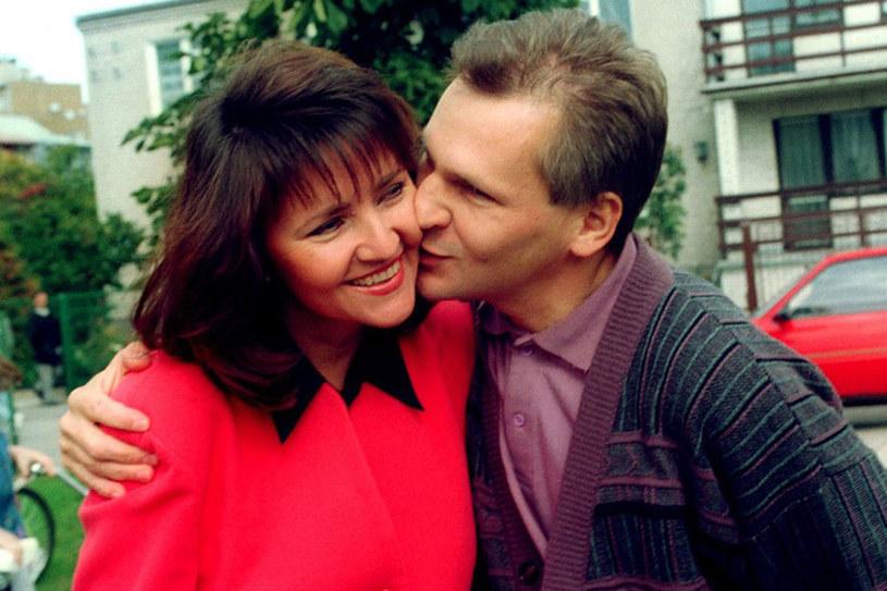 Jolanta Konty i Aleksander Kwaśniewski pobrali się w 1979r. w USC /Jan Skarżyński /Reporter