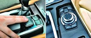 Joystick GS-a to wyraźnie mniej wygodne rozwiązanie od pokrętła w BMW (po prawej). /Motor