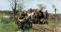 Józef Brandt, Spotkanie na moście, 1888 /Encyklopedia Internautica