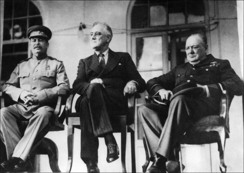 Józef Stalin, Franklin Delano Roosevelt i Winston Churchill podczas konferencji w Teheranie, 1943 /AFP