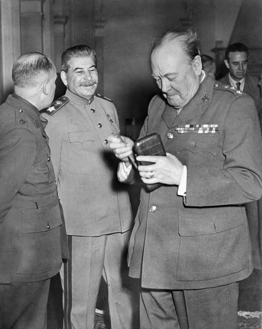 Józef Stalin i Winston Churchill /ITAR-TASS    /PAP