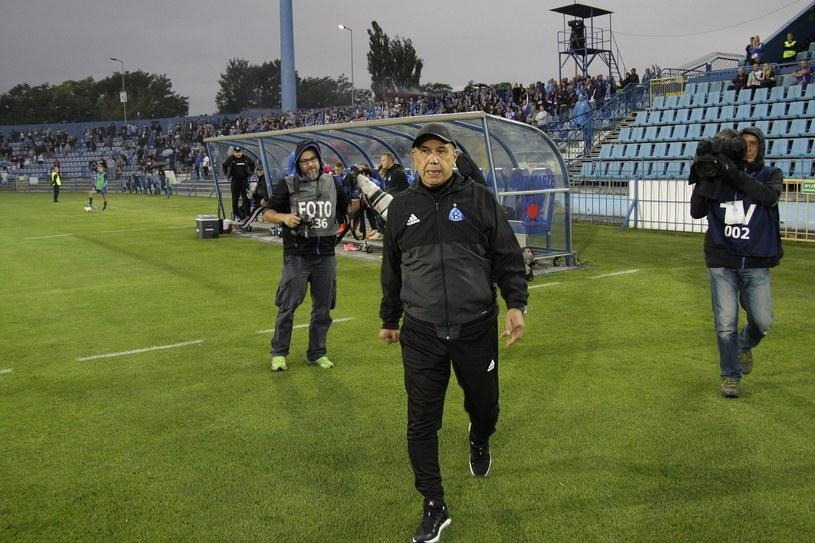 Juan Ramon Rocha debiutował na ławce trenerskiej Ruchu /Adrian Ślazok /East News