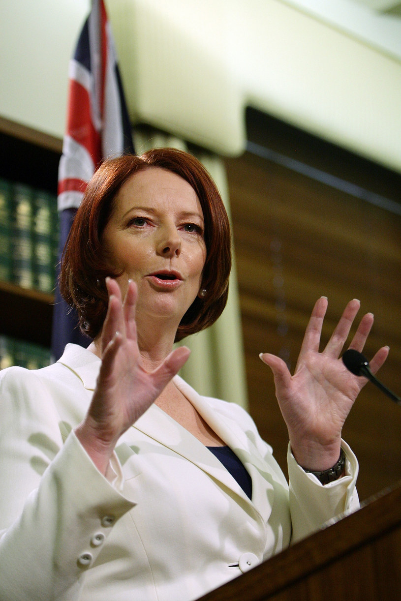 Julia Gillard jest szefem rządu Australii   /Getty Images/Flash Press Media