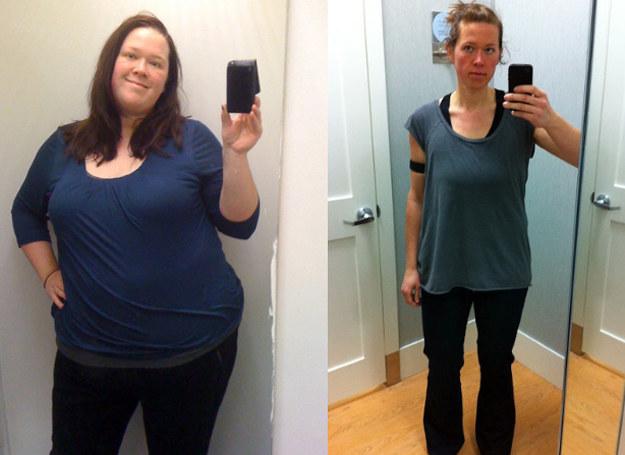 Julia przed i po odchudzaniu. Zdjęcia pochodzą z jej strony internetowej. /http://juliakozerski.com /INTERIA.PL