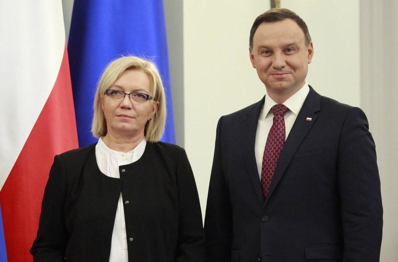 Julia Przyłębska i prezydent Andrzej Duda /STEFAN MASZEWSKI/REPORTER /East News