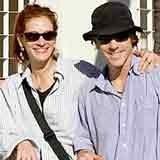 Julia Roberts z mężem /Archiwum